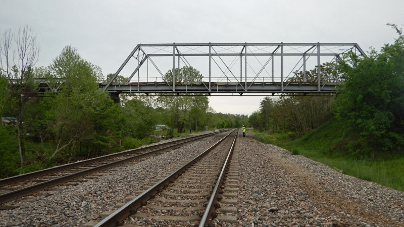 Historic Thayer Viaduct over Two Mile Creek and BNSF Railroad